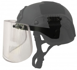 Helmet Accessory - Ballistic Helmet Visor- Side Rail Attachments