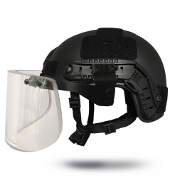 Helmet Accessory - Ballistic Visor- Side Rail Attachments